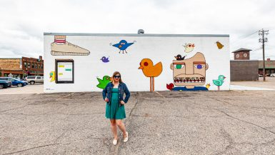 Bird Up Mural in Downtown Fargo, North Dakota | Street Art in Fargo, North Dakota