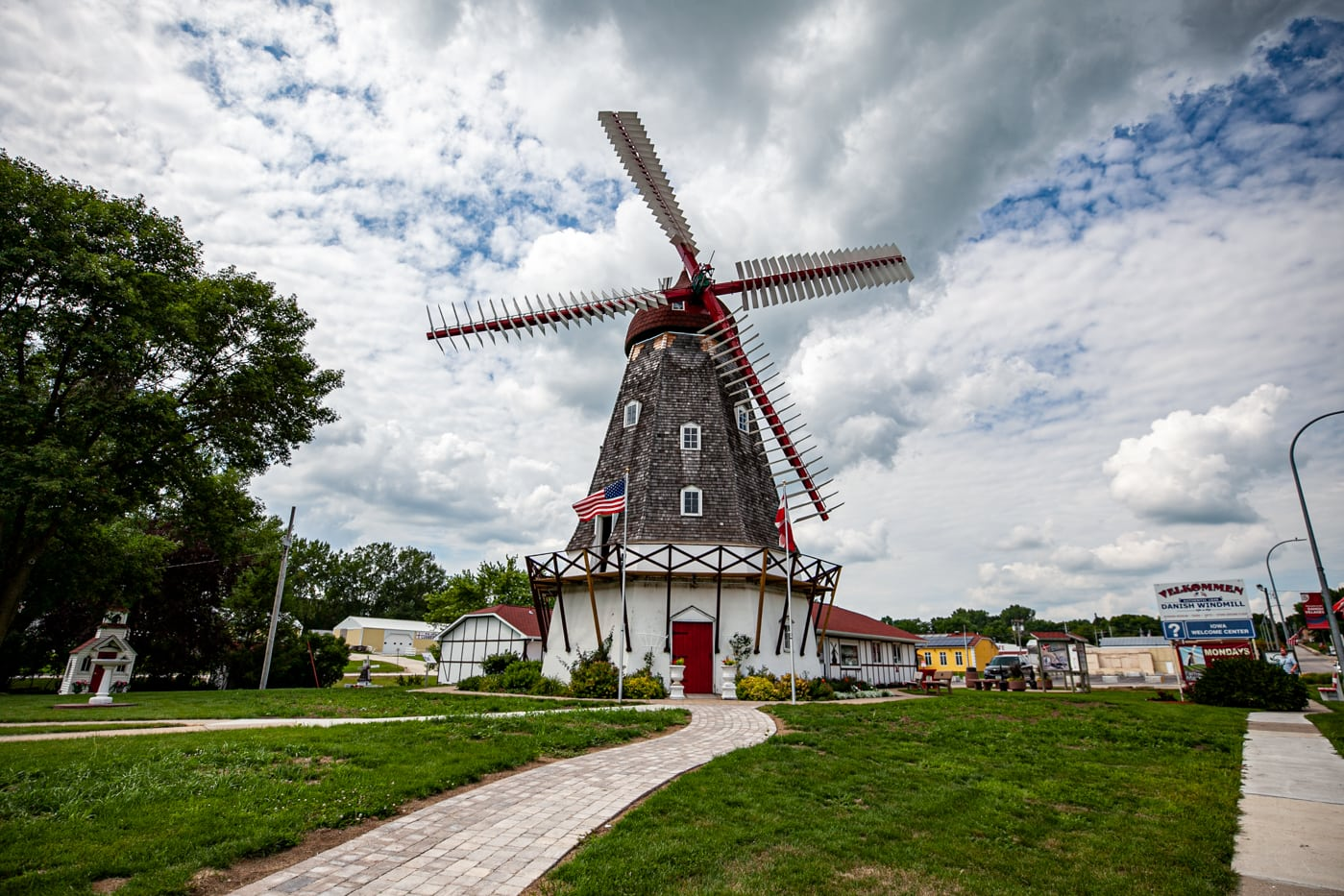 Danish Windmill in Elk Horn, Iowa | Iowa Roadside Attractions
