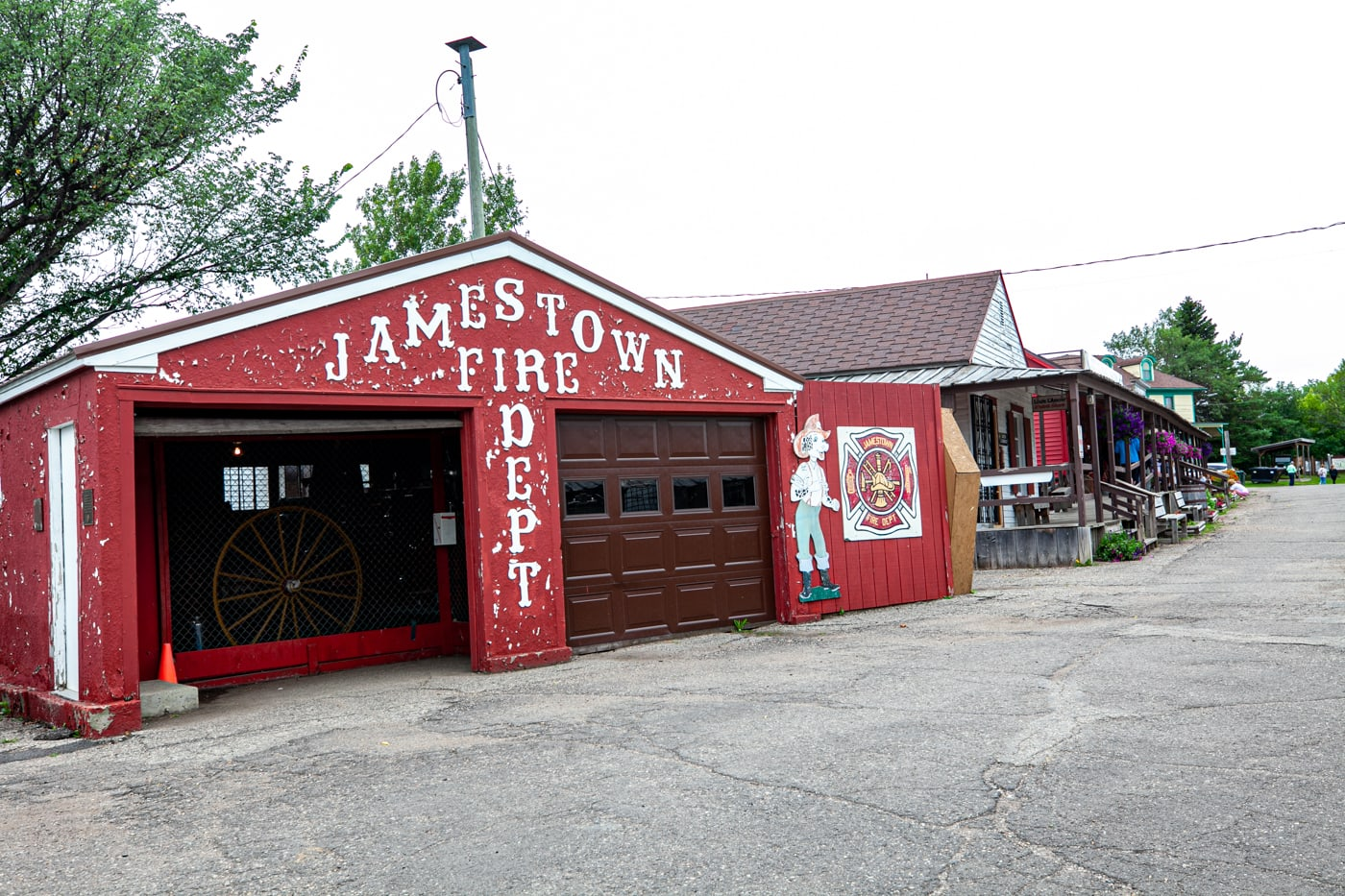 Jamestown Fire Dept at Frontier Village in Jamestown, North Dakota | Roadside Attractions in North Dakota