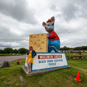 Giant Black River Crossing Oasis Mouse with Cheese in Black River Falls, Wisconsin - roadside attractions in Wisconsin