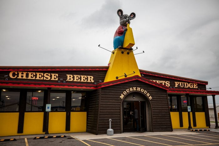 Giant Mouse at Mousehouse Cheesehaus in Windsor, Wisconsin   Cheese Shop in Wisconsin   Wisconsin Roadside Attractions