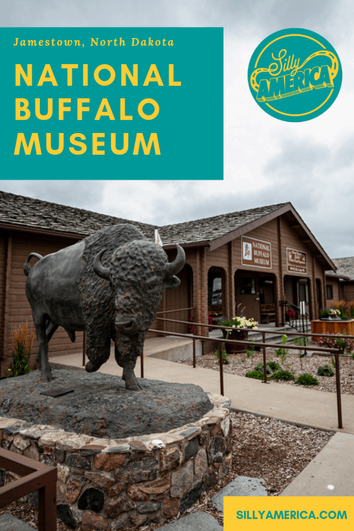 When stopping in Jamestown, North Dakota to see the World's Largest Buffalo learn more about the American Bison at the National Buffalo Museum. Add this to your travel destination to your travel bucket list of things to do in North Dakota as you travel across the landscape of the state. #NorthDakotaRoadsideAttractions #RoadsideAttraction #RoadTrip #NorthDakotaRoadTrip #NorthDakotaBucketList #ThingsToDoInNorthDakota #WeirdRoadsideAttractions #RoadTripStops #USA #America