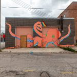 Butter the Octopus Mural in Fargo, North Dakota by artist Olivia Bain - Fargo street art in North Dakota