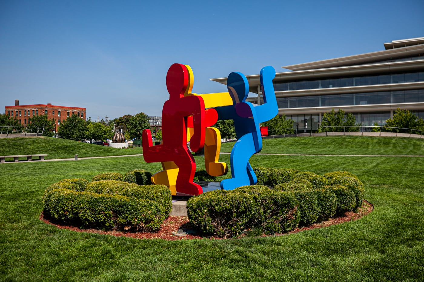 Keith Haring Three Dancing Figures 1989 | Pappajohn Sculpture Park in Des Moines, Iowa