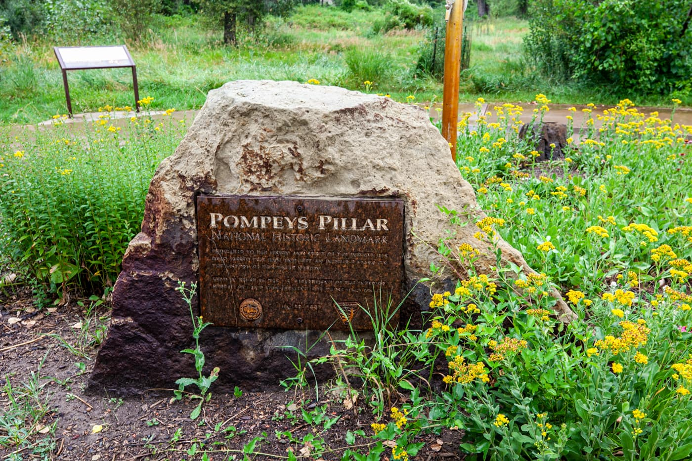 Pompeys Pillar National Monument in Montana | William Clark (Lewis & Clark) carved his name and the date of his visit on a rock bluff next to the Yellowstone River. | Montana tourist attractions and historical monuments