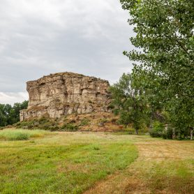 Pompeys Pillar National Monument in Montana   William Clark (Lewis & Clark) carved his name and the date of his visit on a rock bluff next to the Yellowstone River.   Montana tourist attractions and historical monuments
