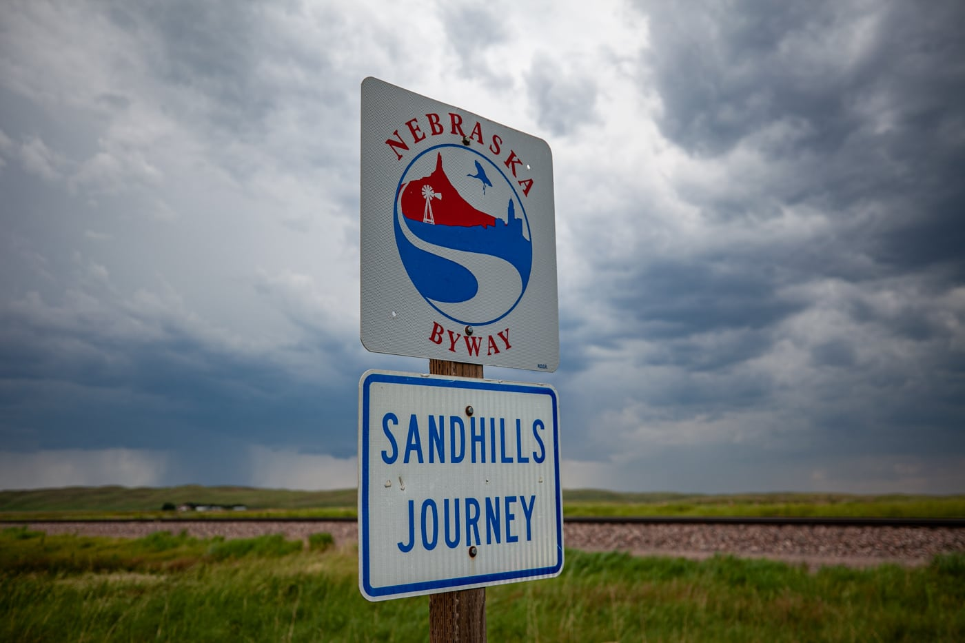 Nebraska Sandhills Journey Scenic Byway Road Sign