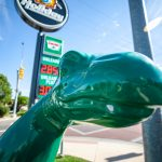 Sinclair Dinosaur in Salt Lake City, Utah | Salt Lake City Roadside Attractions in Utah