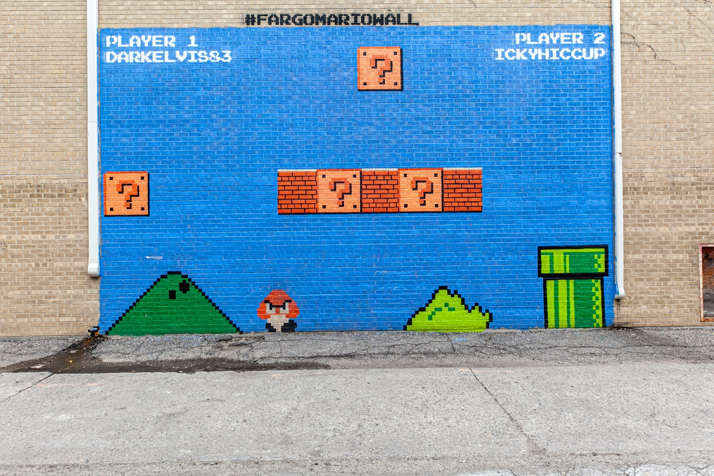 Fargo Mario Wall | Super Mario Bros Mural in Fargo, North Dakota | Street Art in Fargo, North Dakota