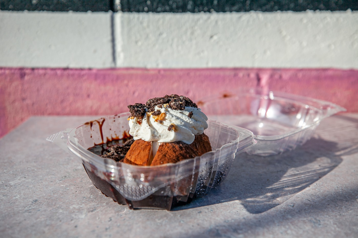 Idaho Potato Ice Cream at Westside Drive In in Boise, Idaho - ice cream sundae shaped like an Idaho baked potato featured on Diners, Drive Ins, and Dives.