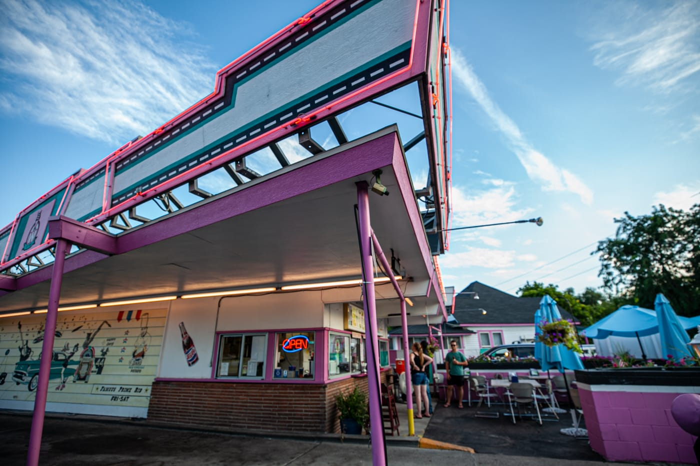 Westside Drive In in Boise, Idaho - a classic pink diner featured on Diners, Drive Ins, and Dives.