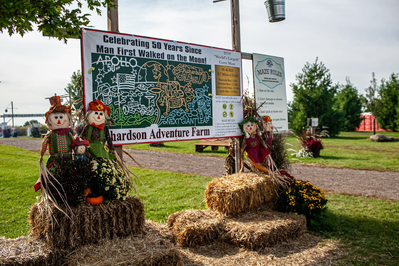 The World's Largest Corn Maze at Richardson Adventure Farm in Spring Grove, Illinois.