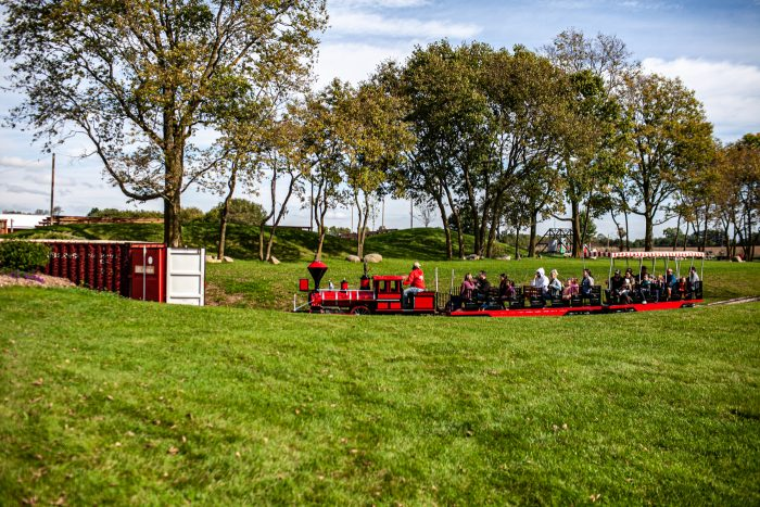 Train Ride at the petting zoo at Richardson Adventure Farm in Spring Grove, Illinois.