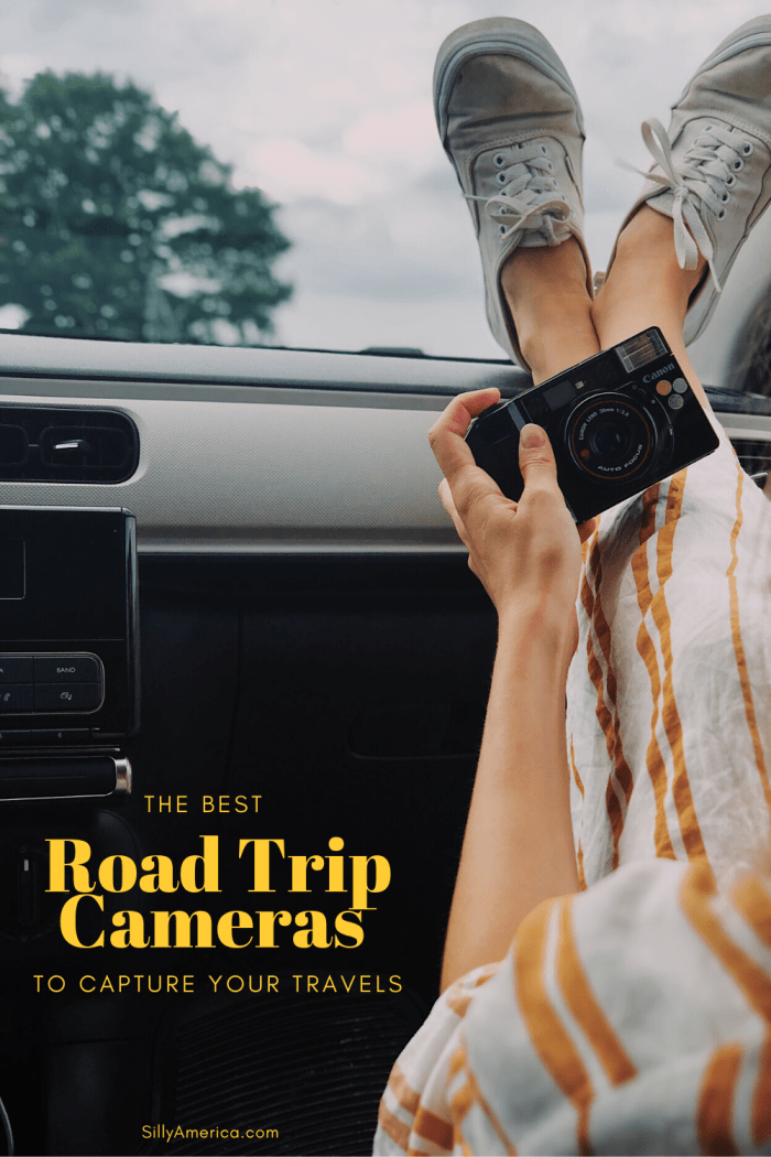 A great road trip deserves great photography and the only way to get those perfect shots are with the best road trip cameras that meet your travel needs. Find the best road trip cameras and travel cameras here: DSLRs, mirrorless cameras, action cameras, disposable, and more.   #RoadTrip #RoadTripCamera #RoadTripCamera #RoadTripPhotography #RoadTripPhotographyIdeas #RoadTripPhotos #TravelCamera #BestTravelCamera #TravelCameraGear #TravelCameras #BestTravelCameras #RoadTripEssentials