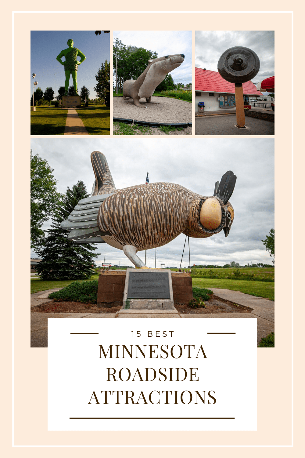 The best Minnesota roadside attractions to visit on a Minnesota road trip or weekend getaway. Add these roadside oddities and road trip stops to your bucket list and visit these roadside attractions in Minnesota on your next travel adventure. #MinnesotaRoadsideAttractions #MinnesotaRoadsideAttraction #RoadsideAttractions #RoadsideAttraction #RoadTrip #MinnesotaRoadTrip #MinnesotaRoadTripBucketLists #MinnesotaBucketList #MinnesotaRoadTripMap #MinnesotaRoadTripIdeas #WeirdRoadsideAttractions