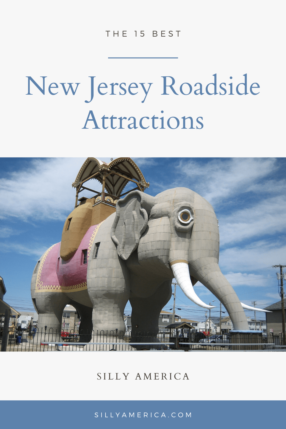The best New Jersey roadside attractions to visit on a New Jersey road trip or weekend getaway. Add these roadside oddities to your travel bucket list or road trip itinerary and visit them on an Atlantic City vacation or trip to the Jersey Shore. #NewJerseyRoadsideAttractions #NewJerseyRoadsideAttraction #RoadsideAttractions #RoadsideAttraction #RoadTrip #NewJerseyRoadTrip #NewJerseyRoadTripMap #NewJerseyRoadTripItinerary #WeirdRoadsideAttractions