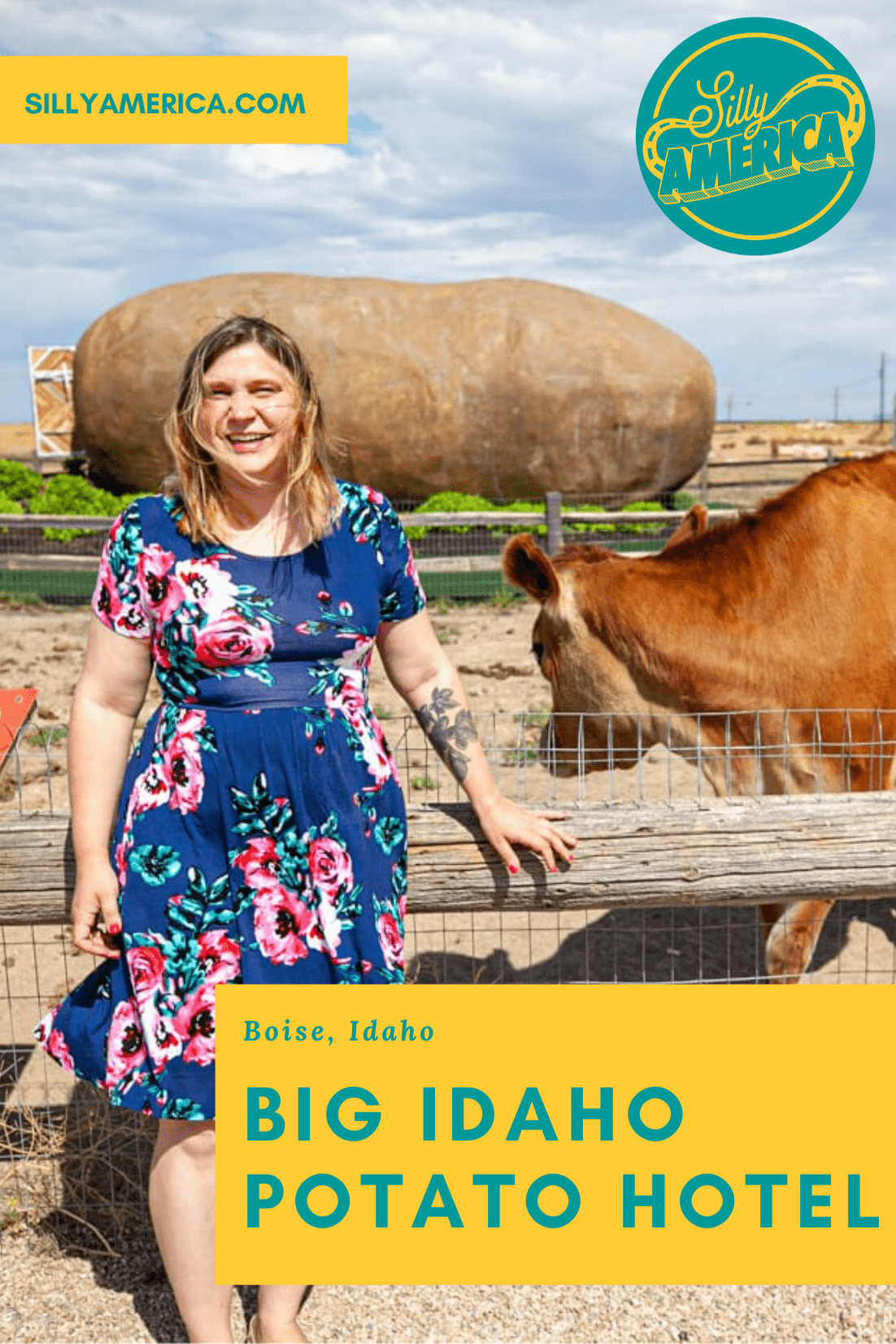 The Big Idaho Potato Hotel AirBNB in Boise, Idaho is an AirBNB made from a giant potato hosted by Kristie Wolfe. Spend the night in an Idaho roadside attraction. Add this weird AirBNB to your travel bucket list and road trip itinerary for a fun Idaho road trip!  #AirBNB #Potato #IdahoRoadsideAttractions #IdahoRoadsideAttraction #RoadsideAttractions #RoadsideAttraction #RoadTrip #IdahoRoadTrip  #IdahoRoadTripBucketLists #IdahoBucketList #ThingsToDoInIdaho #weirdroadsideattractions