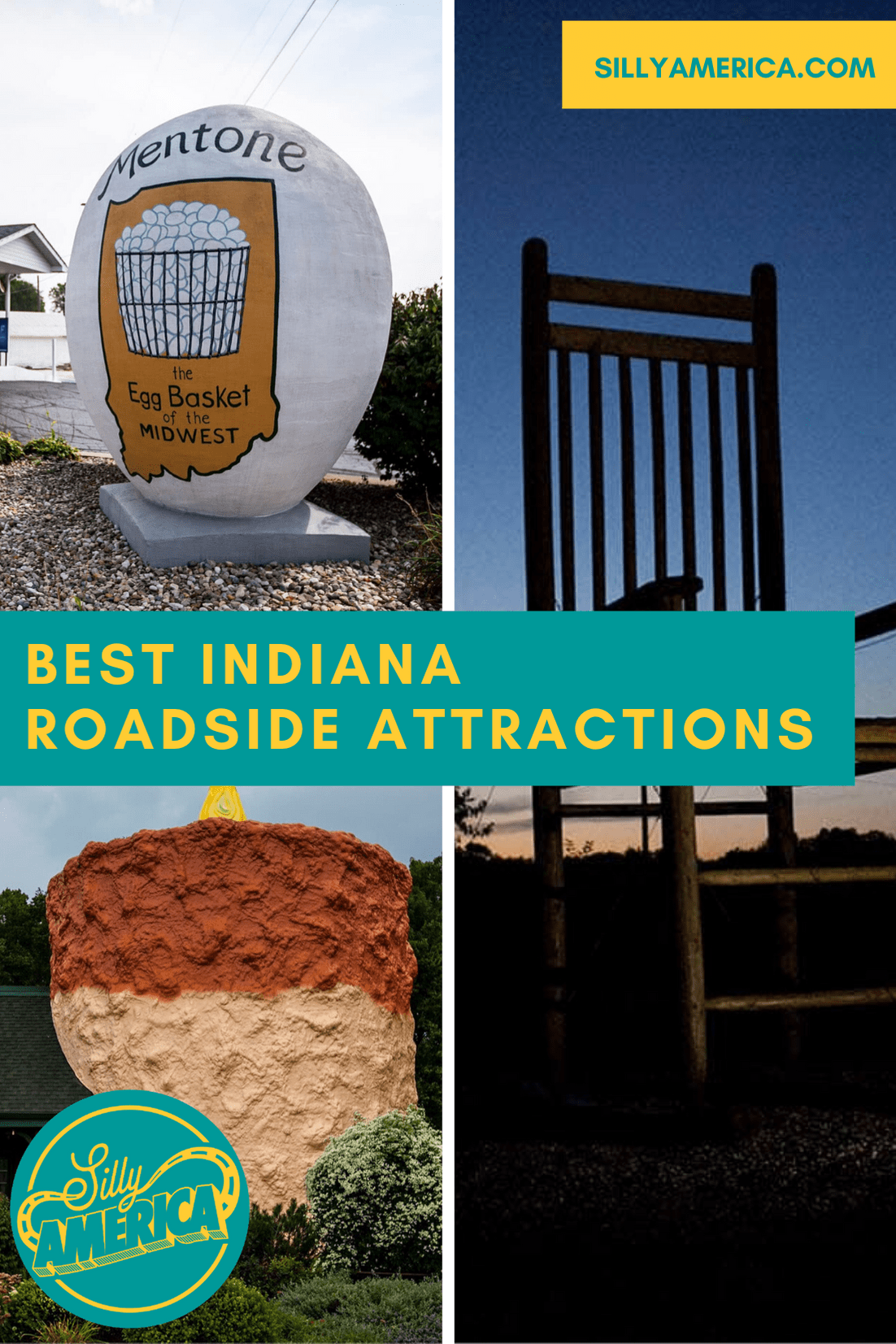 The best Indiana roadside attractions to visit on an Indiana road trip. Add these roadside oddities to your travel bucket list, itinerary, or route map! These fun places to visit in Indiana are must see road trip stops for kids or adults.  #IndianaRoadsideAttractions #IndianaRoadsideAttraction #RoadsideAttractions #RoadsideAttraction #RoadTrip #IndianaRoadTrip #PlacesToVisitInIndiana #IndianaRoadTripIdeas #IndianaRoadTripWithKids #IndianaTravel #ThingsToDoInIndiana #WeirdRoadsideAttractions