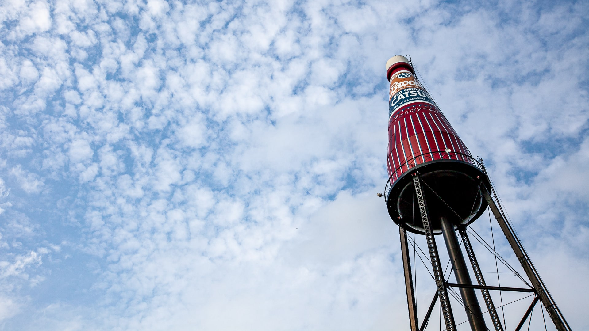 World's Largest Catsup Bottle -  Roadside Attraction Zoom Background Images for video conferencing backdrops.