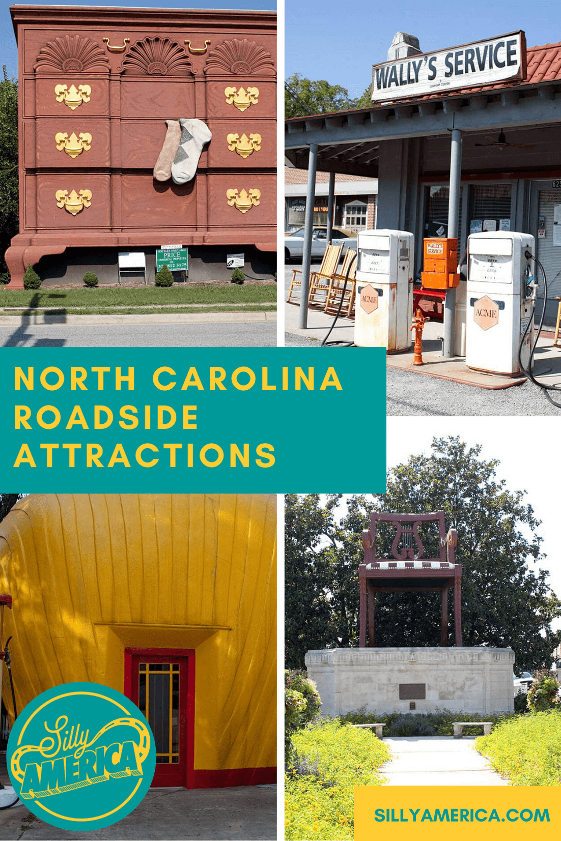 The best North Carolina roadside attractions to visit on a North Carolina road trip. Add these roadside oddities to your travel bucket list, itinerary, or route map! Perfect road trip stops for kids or adults! #NorthCarolinaRoadsideAttractions #NorthCarolinaRoadsideAttraction #RoadsideAttractions #RoadsideAttraction #RoadTrip #NorthCarolinaRoadTrip #NorthCarolinaRoadTripBucketLists #NorthCarolinaBucketList #NorthCarolinaRoadTripWIthKids #NorthCarolinaRoadTripTravelGuide