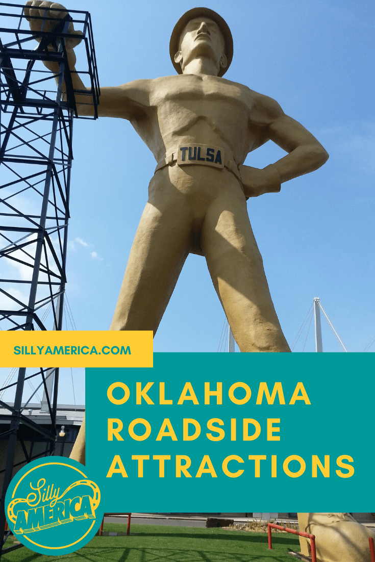 The best Oklahoma roadside attractions to visit on an Oklahoma road trip. Add these roadside oddities to your travel bucket list, itinerary, or route map! Great Route 66 road trip stops in Oklahoma! #OklahomaRoadsideAttractions #OklahomaRoadsideAttraction #RoadsideAttractions #RoadsideAttraction #RoadTrip #OklahomaRoadTrip #OklahomaRoadTripBucketLists #OklahomaBucketList #OklahomaRoadTripThingstoDo #OklahomaRoadTripIdeas #OklahomaRoadTripWithKids #OklahomaRoadTripMap #WeirdRoadsideAttractions