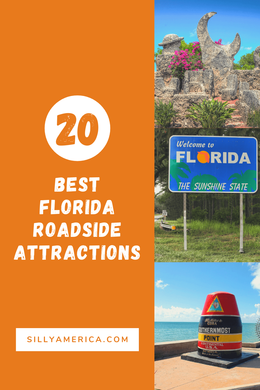 The best Florida roadside attractions to visit on a Florida road trip. Add these roadside oddities to your travel bucket list, itinerary, or route map! Weird roadside attractions and fun road trip stops for kids and adults on their way to Disney World and beyond. #FloridaRoadsideAttractions #FloridaRoadTrip #Floridaroadtripdestinations #Floridaroadtripideas #Floridaroadtripitinerary #ThingstoDoinFlorida #Floridatraveldestinations #RoadsideAttraction #RoadsideAttraction #RoadTrip