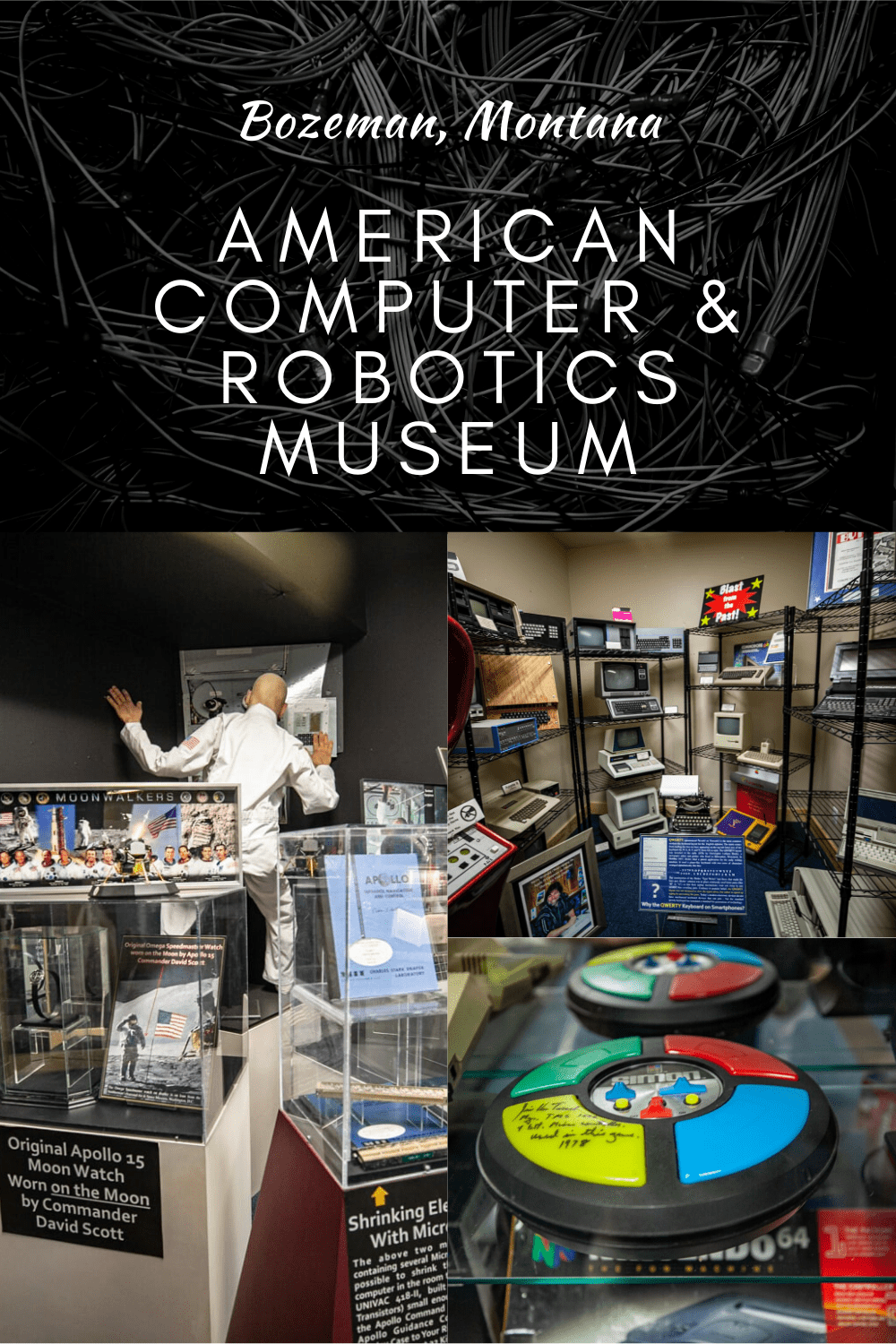"""The American Computer & Robotics Museum in Bozeman, Montana features a comprehensive history of the computer with """"4,000 years of humanity and technology."""" #MontanaRoadsideAttractions #MontanaRoadsideAttraction #RoadsideAttractions #RoadsideAttraction #RoadTrip #MontanaRoadTrip #MontanaRoadTripMap #MontanaRoadTripItinerary #MontanaRoadTripBucketLists #MontanaBucketList #MontanaRoadTripIdeas #MontanaWinterRoadTrip #MontanaRoadTripWithKids #MontanaRoadWithKids"""