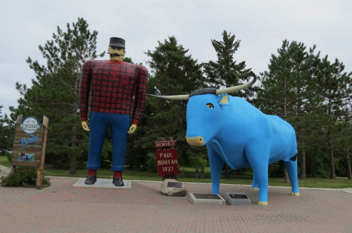 Best Roadside Attractions - Bemidji, Minnesota Paul Bunyan & Babe the Blue Ox Statues