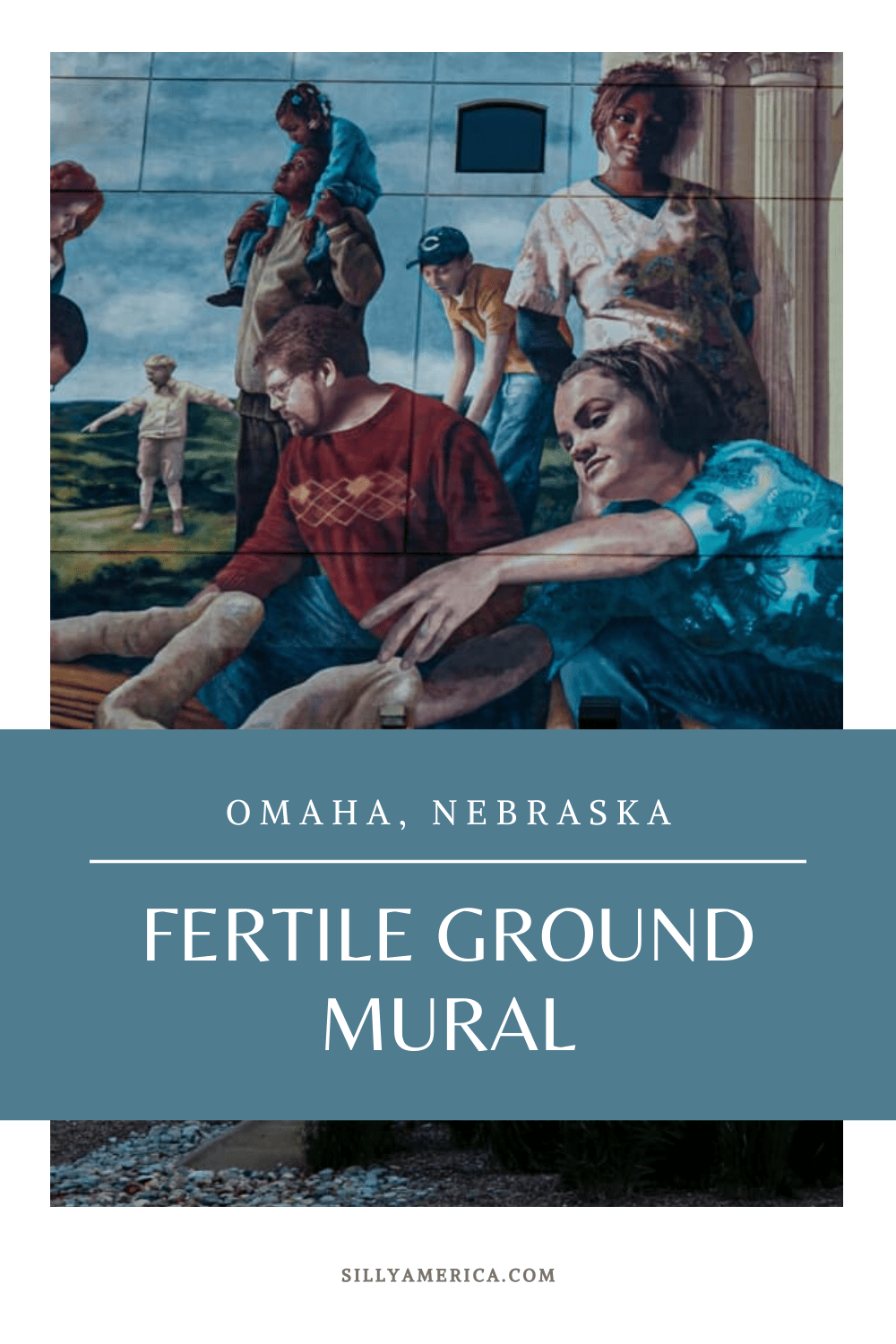 The Fertile Ground mural in Omaha, Nebraska was created by artist Meg Saligman. The 32,500 square-foot mural is one of the largest murals in the country. #NebraskaRoadsideAttractions #NebraskaRoadsideAttraction #RoadsideAttractions #RoadsideAttraction #RoadTrip #NebraskaRoadTrip #ThingsToDoInNebraska #NebraskaTravelRoadTrips #ThingsToSeeInNebraska #StreetArt #mural