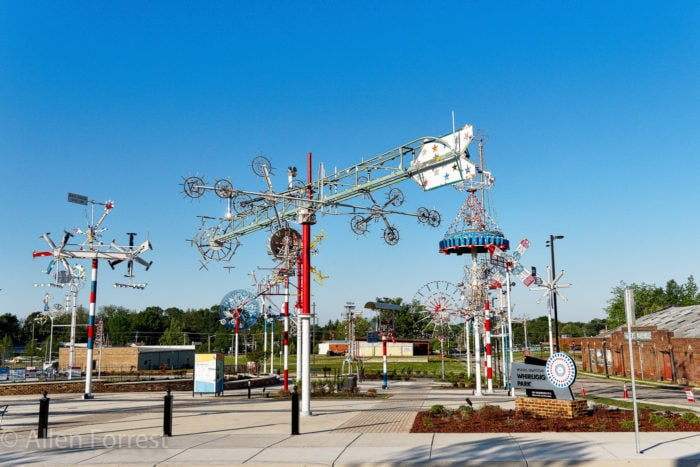 Weird roadside attractions - Vollis Simpson Whirligig Park in North Carolina