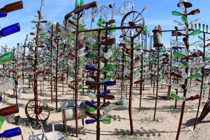 Weird roadside attractions - Elmer's Bottle Tree Ranch in California