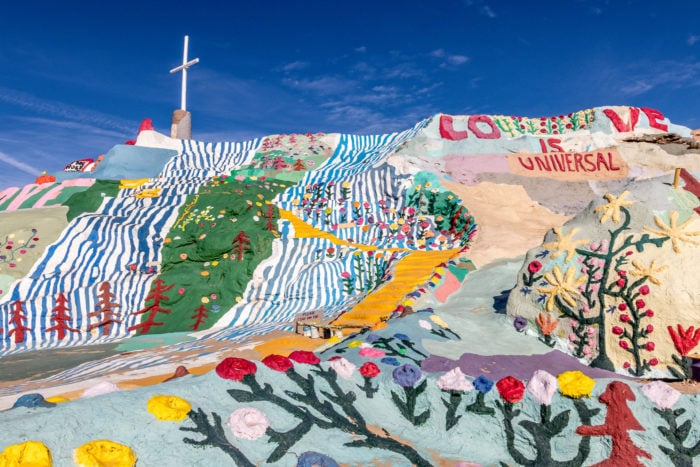 Weird roadside attractions - California Salvation Mountain