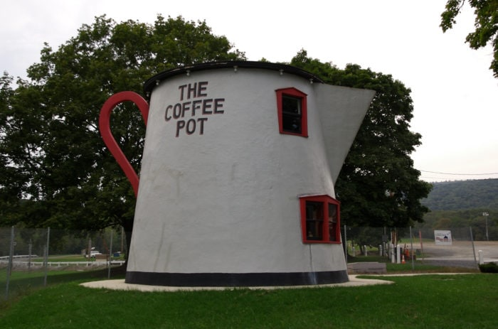 The Coffee Pot in Pennsylvania - weird roadside attractions