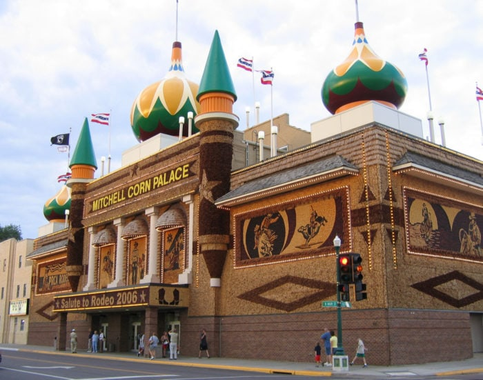 Weird roadside attractions - World's Only Corn Palace in South Dakota