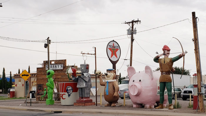 Weird Roadside Attractions - Teako's Giants of Hatch in New Mexico