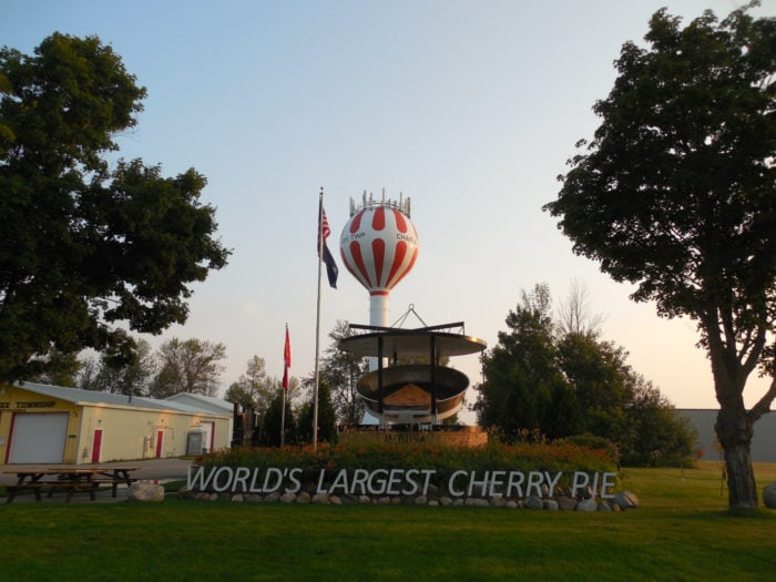 Best Roadside Attractions - Michigan World's Largest Cherry Pie