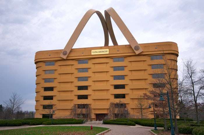 Best Roadside Attractions - Ohio - Longaberger's World's Largest Picnic Basket