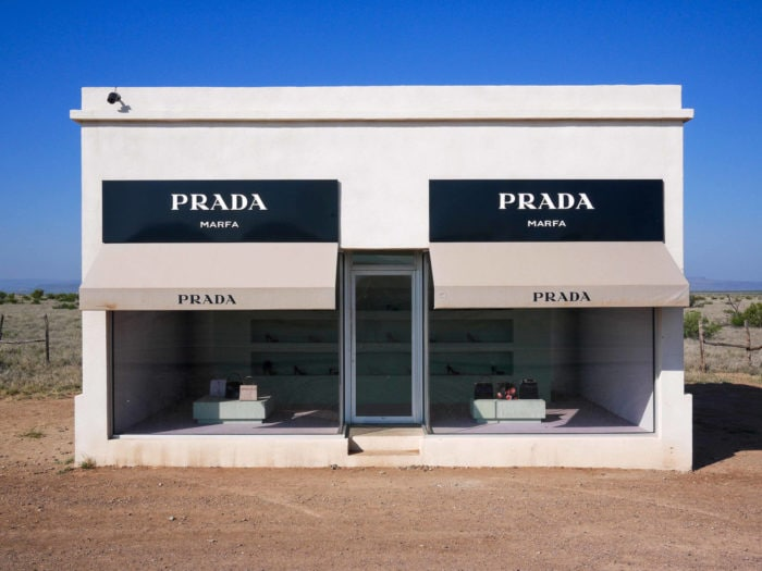 Weird roadside attractions - Prada Marfa in Texas