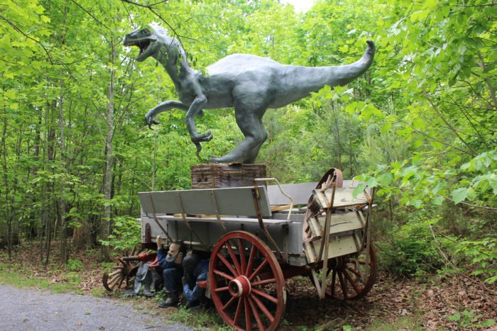 Weird roadside attractions - Dinosaur Kingdom II in Virginia