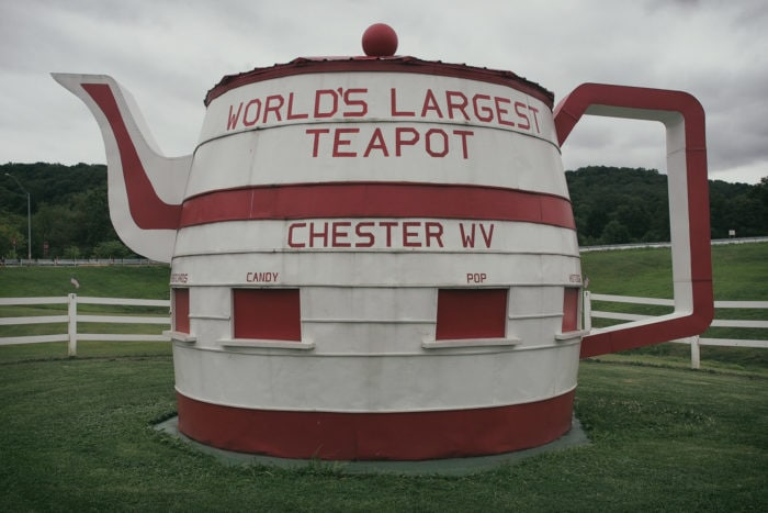 Weird roadside attractions - World's Largest Teapot in West Virginia