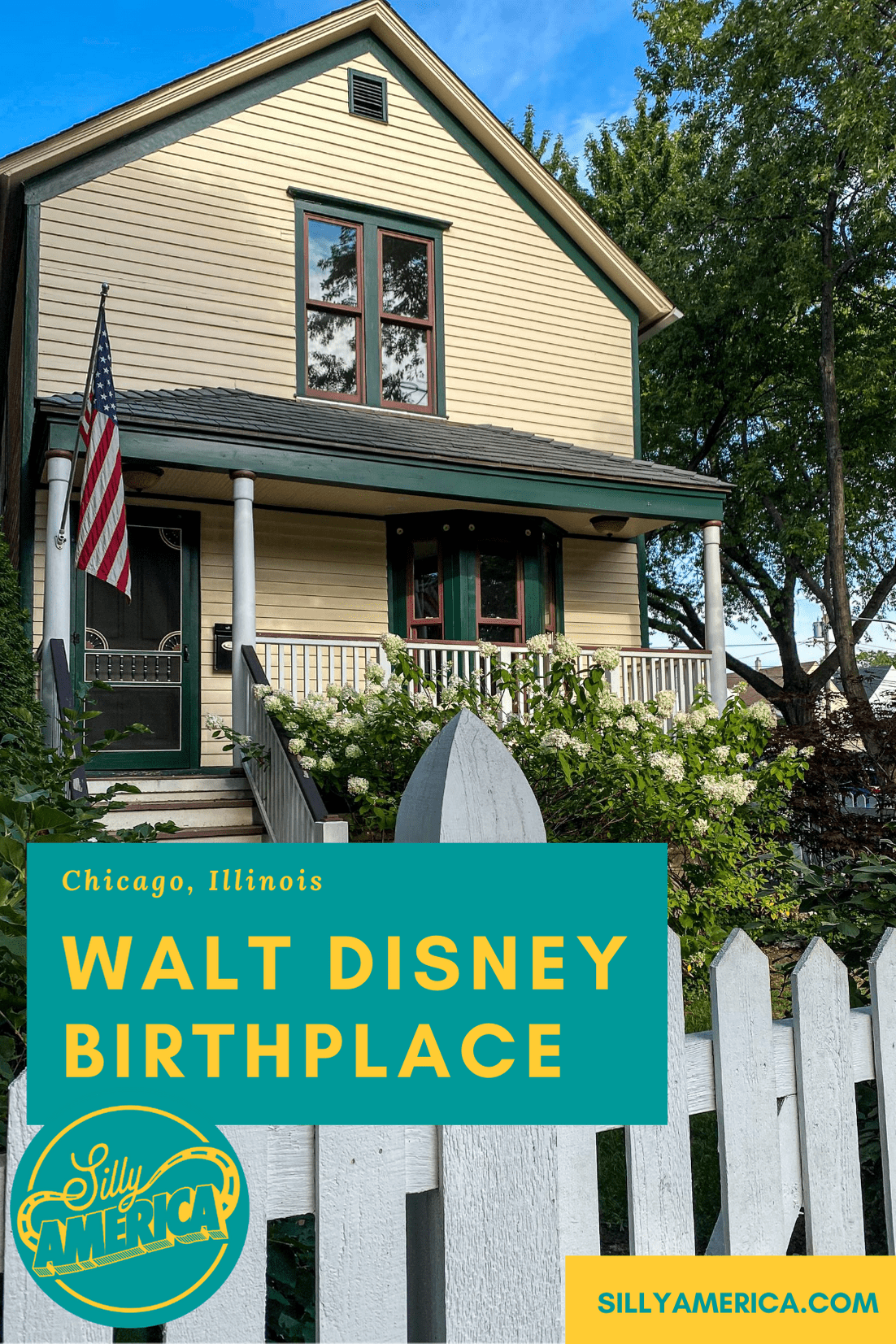 The Walt Disney Birthplace is in Chicago, Illinois. Walt Disney, the animator, voice actor, writer, and film producer who was an animation superstar and created the Disney empire. His father, Elias Disney, built this house and, on December 5, 1901, Walter Elias Disney was born there. He spent his early childhood living in that house before the family moved to a farm in Marceline, Missouri, when he was four years old. #Disney #WaltDisney #ChicagoRoadsideAttraction #IllinoisRoadsideAttractions