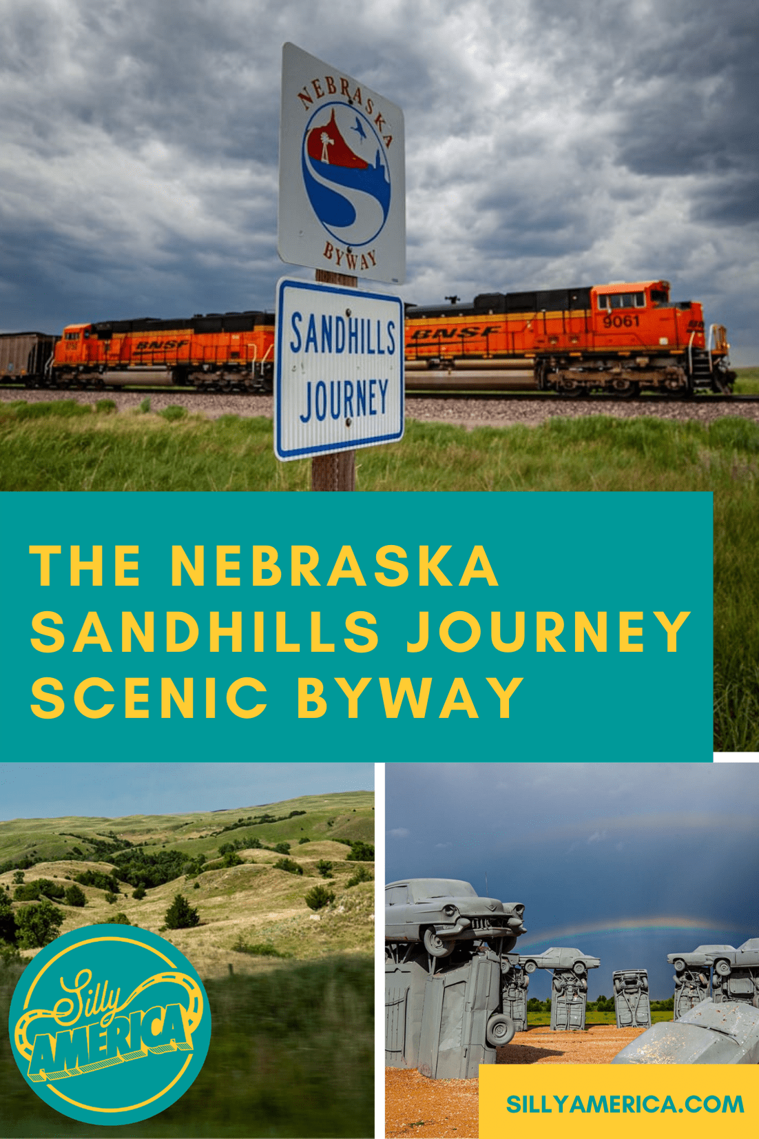 The Sandhills Journey Scenic Byway is a 272-mile road trip that takes you through some of the most breathtaking landscapes in Nebraska. The road, also known as Nebraska Highway 2, runs from Grand Island on the southeastern end to Alliance on the northwestern end.  #NebraskaRoadsideAttractions #NebraskaRoadsideAttraction #RoadsideAttractions #RoadsideAttraction #RoadTrip #NebraskaRoadTrip #ThingsToDoInNebraska #NebraskaRoadTripWithKids #NebraskaTravelRoadTrips #ThingsToSeeInNebraska