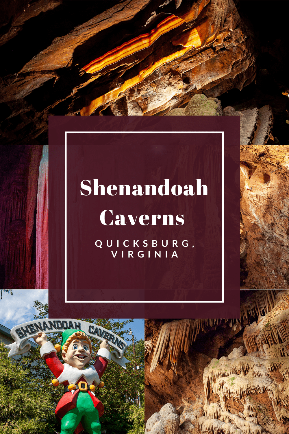 Shenandoah Caverns in Quicksburg, Virginia is a beautiful natural wonder with quirk, kitsch…and bacon… making it a fun stop to add to any Virginia road trip itinerary. #VirginiaRoadsideAttractions #VirginiaRoadsideAttraction #RoadsideAttractions #RoadsideAttraction #RoadTrip #VirginiaRoadTrip #VirginiaRoadTripBucketLists #VirginiaBucketList #VirginiaRoadTripIdeas