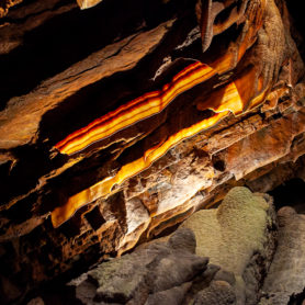 Breakfast Bacon Cave at Shenandoah Caverns in Quicksburg, Virginia.
