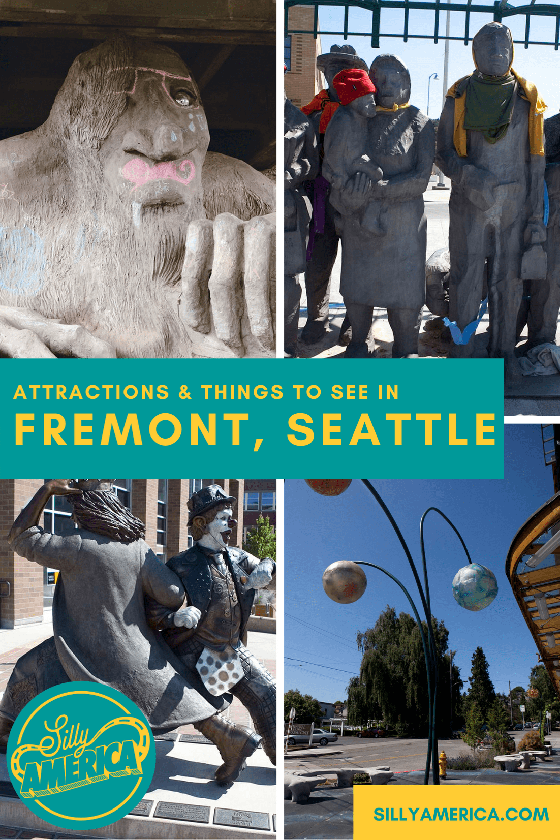 There are plenty of weird, wacky, and peculiar things to see in Fremont, a weird wacky and peculiar neighborhood in Seattle, Washington. Want to find all the peculiar for yourself? Follow this list of all the best attractions and things to see in Fremont, Seattle. #WashingtonRoadsideAttractions #WashingtonRoadsideAttraction #RoadsideAttractions #RoadsideAttraction #RoadTrip #WashingtonRoadTrip  #SeattleRoadTrip #SeattleRoadsideAttractions #FremontSeattle