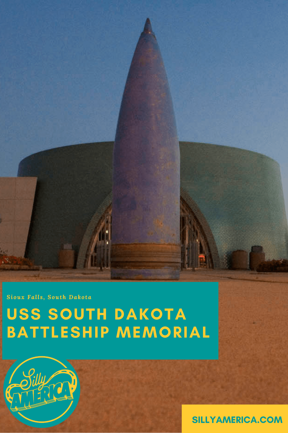 The USS South Dakota Battleship Memorial in Sioux Falls, South Dakota features a full-sized concrete outline of USS South Dakota. Visit this South Dakota roadside attraction on a road trip. #SouthDakotaRoadsideAttractions #SouthDakotaRoadsideAttraction #RoadsideAttractions #RoadsideAttraction #RoadTrip #SouthDakotaRoadTrip #ThingsToDoInSouthDakota #SouthDakotaRoadTripItinerary #SouthDakotaBucketList #SouthDakotaSummerRoadTrip #SouthDakotaRoadTripIdeas #SouthDakotaAwesomeRoadTrip