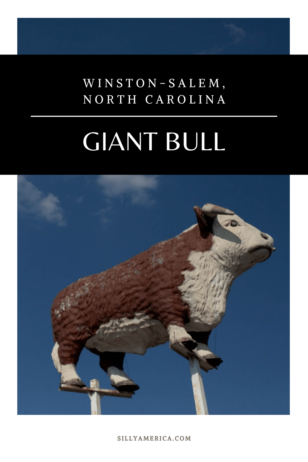 In 2020 the Thrift-Way Meats Giant Bull in Winston-Salem, North Carolinawas moved to Fratellis Italian Steakhouse to replicate Staley's Bull AKA Winston the Bull. Visit this roadside attraction on a North Carolina road trip. #NorthCarolinaRoadsideAttractions #NorthCarolinaRoadsideAttraction #RoadsideAttractions #RoadsideAttraction #RoadTrip #NorthCarolinaRoadTrip #NorthCarolinaRoadTripBucketLists #NorthCarolinaBucketList