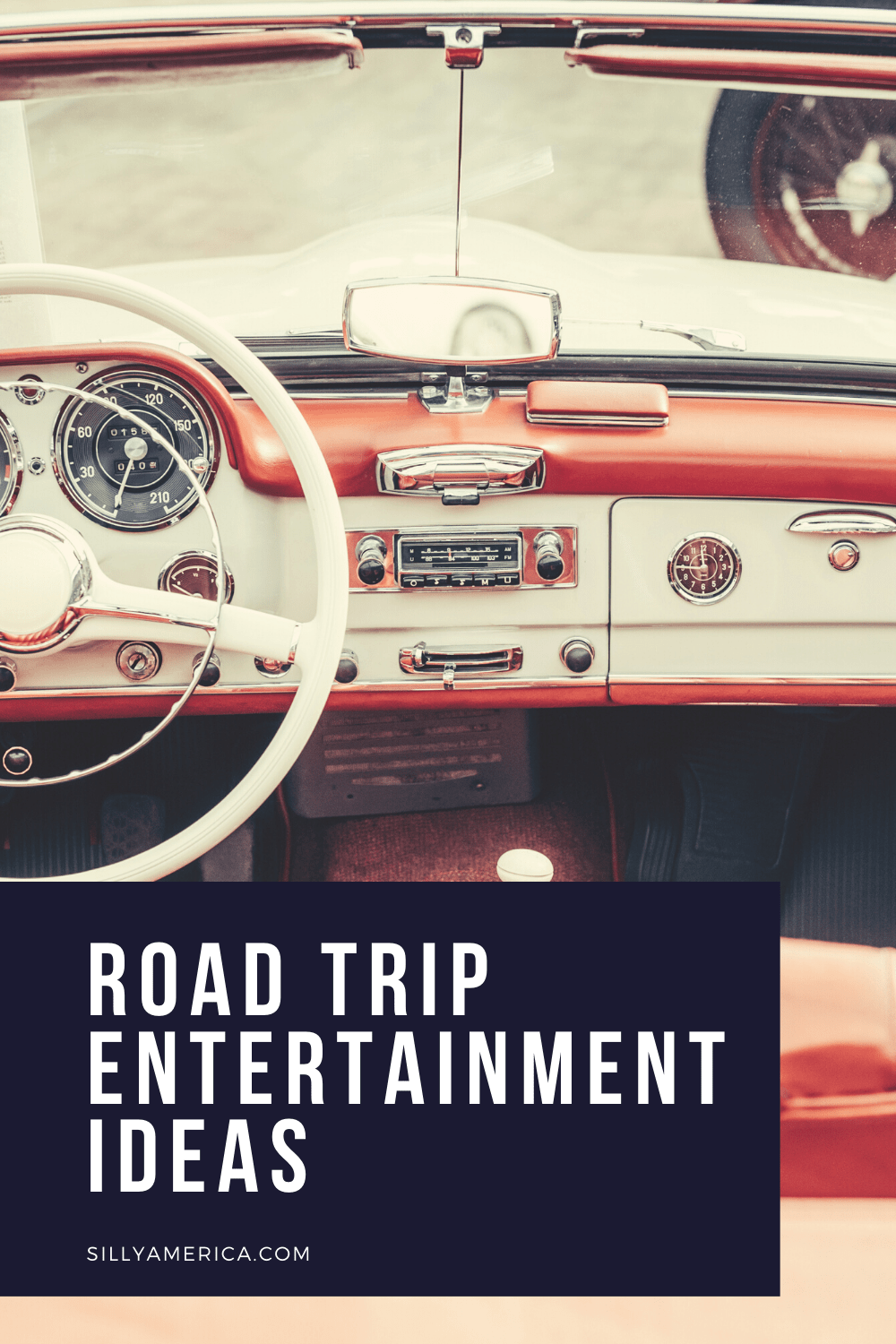Road trip entertainment ideas to keep your car passengers having fun from home to destination. Read on for some ideas for what to do in the car for kids or adults and things to bring on a road trip for entertainment.  #RoadTrip #RoadTripPlanning #RoadTripGames #RoadTripEntertainment
