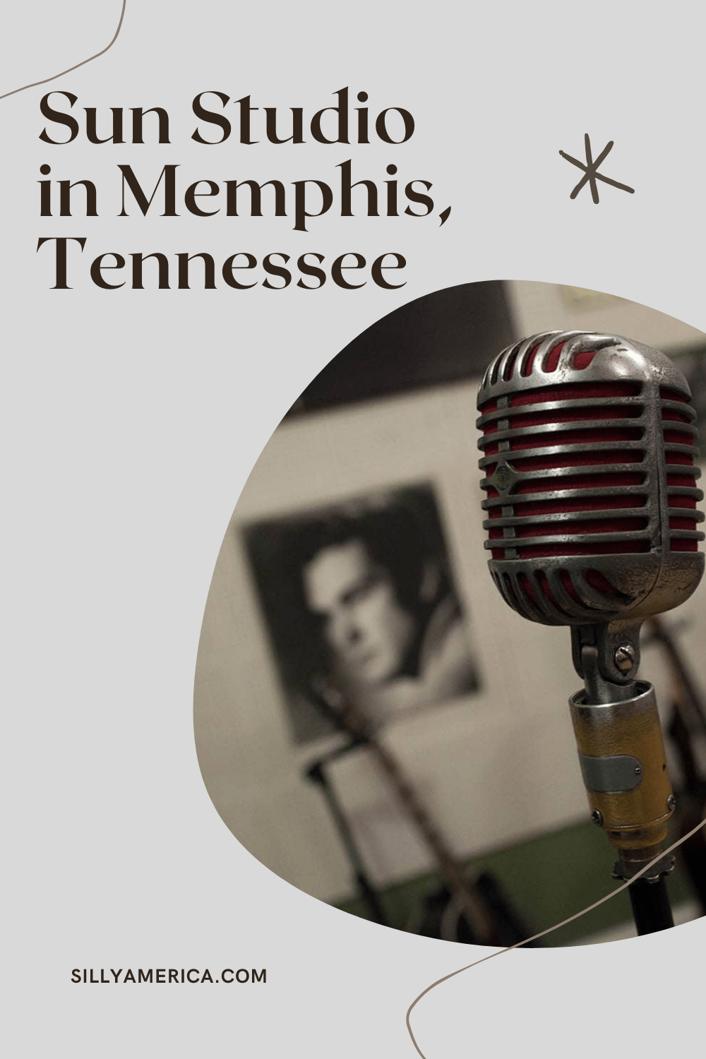 """Tour Sun Studio in Memphis, Tennessee, known as the """"Birthplace of Rock 'n' Roll"""" and """"the most famous recording studio in the world."""" Step in the shoes of Elvis Presley and other rock legends and this famous Memphis tourist attraction.  #Elvis #Elvis #TennesseeRoadsideAttractions #TennesseeRoadsideAttraction #RoadsideAttractions #RoadsideAttraction #RoadTrip #TennesseeRoadTrip #TennesseeBucketList #ThingsToDoInTennessee #MemphisRoadsideAttractions #MemphisRoadsideAttraction  #Memphis"""