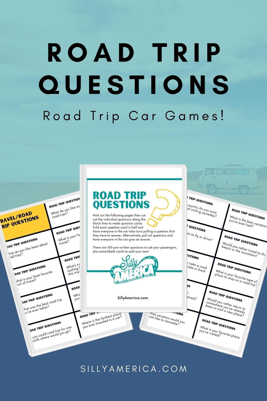 There are plenty of options for road trip entertainment. Why not spend some time in the car getting to know your passengers by taking turns answering road trip questions. Whether you're traveling with your partner, family, or friends, these car ride questions are the perfect ice breakers and conversation starters. Some are deep, others are just plain fun. These 100 pre-written questions to ask on a road trip are sure to get everyone in the car talking. #RoadTrip